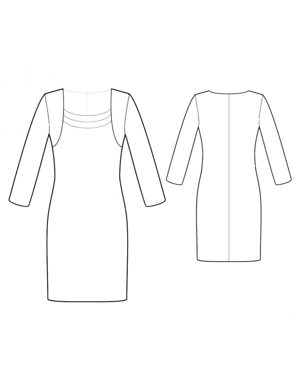 Fashion Designer Sewing Patterns - Elegant Fitted Dress
