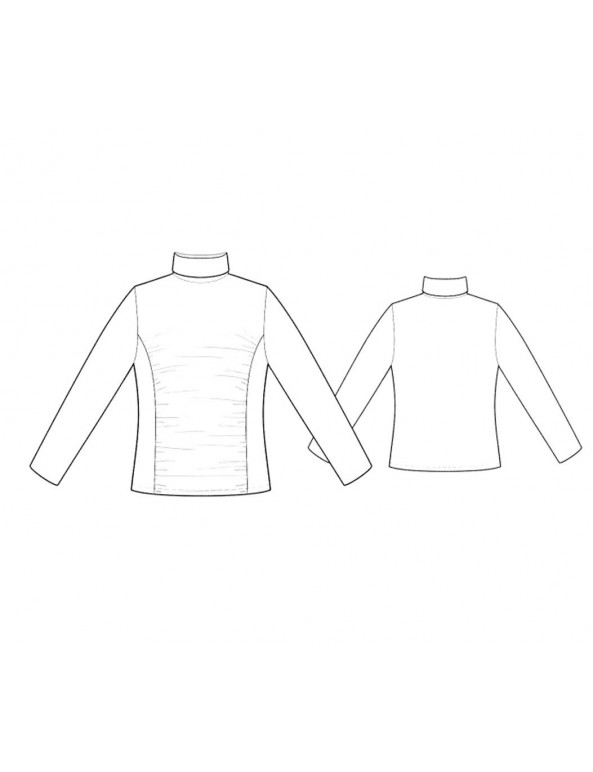 Fashion Designer Sewing Patterns - Ruched Front Knit Turtleneck