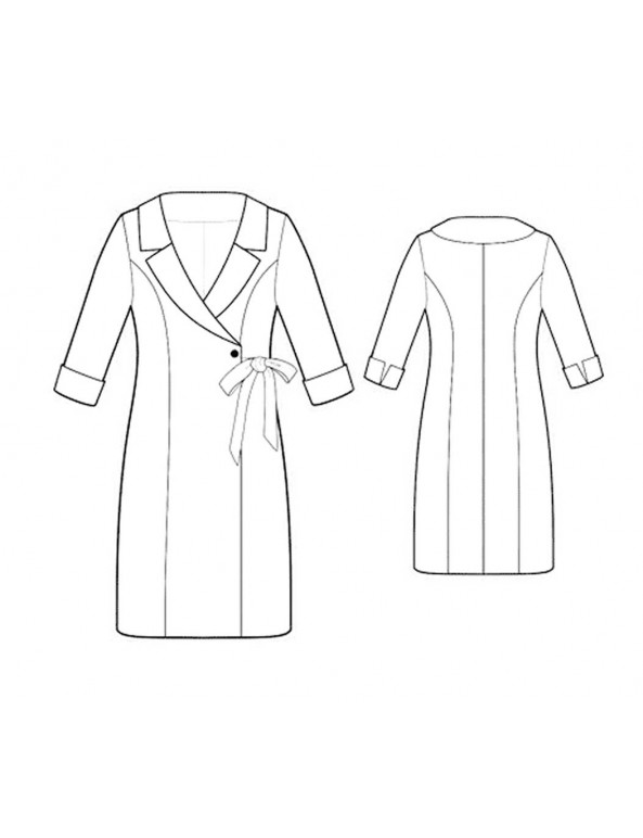 Fashion Designer Sewing Patterns - Wrap Coat Dress