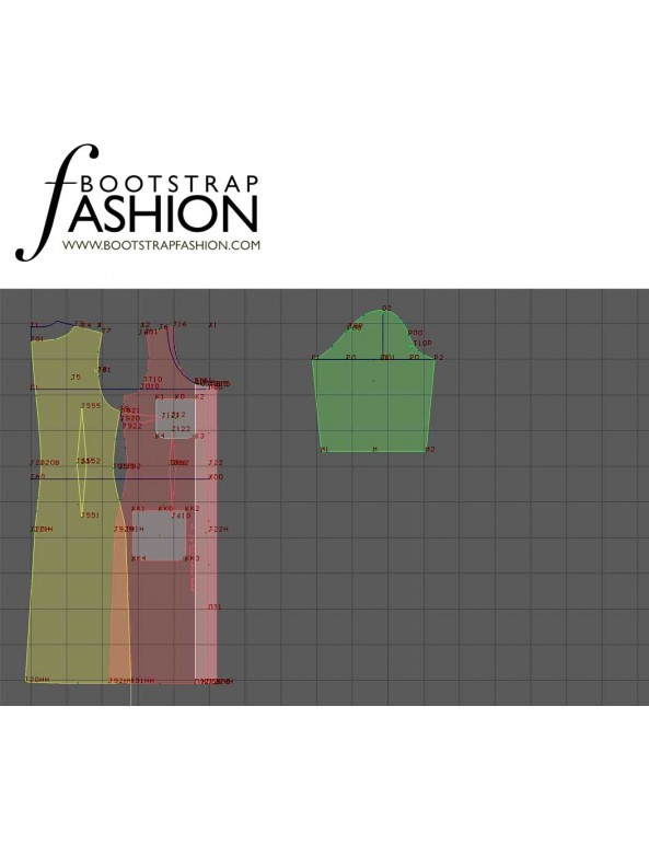Fashion Designer Sewing Patterns - Scoop-Neck Button-Front Dress