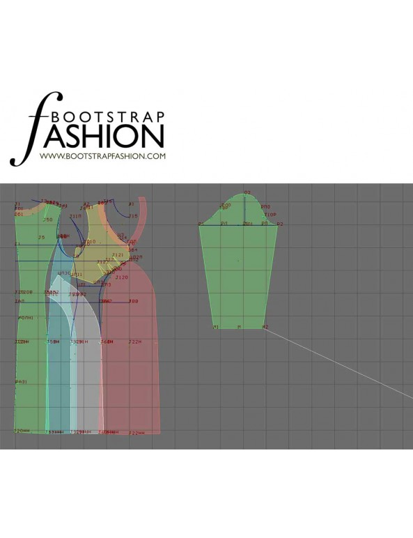 Fashion Designer Sewing Patterns - Fitted V-Neck Dress
