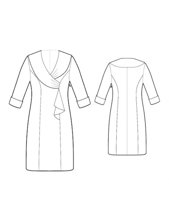 Fashion Designer Sewing Patterns - Fitted Coat Dress