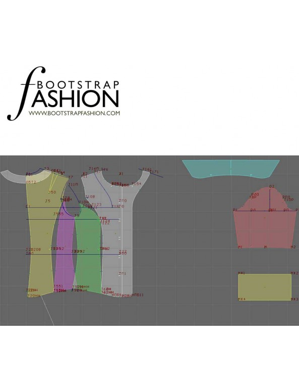 Fashion Designer Sewing Patterns - Short-Sleeved Tailored Button-Down Shirt