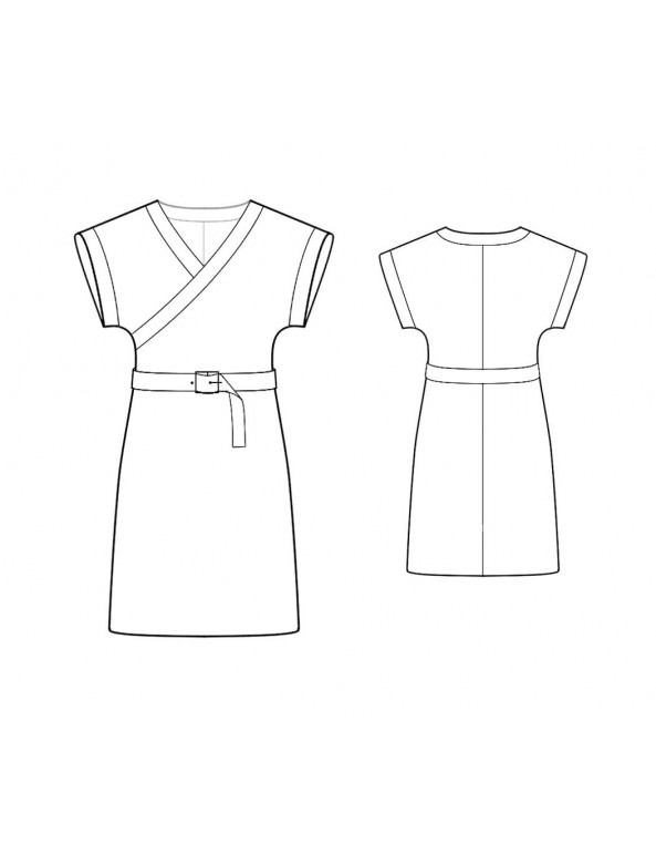 Fashion Designer Sewing Patterns - Kimono Wrap Knit Dress