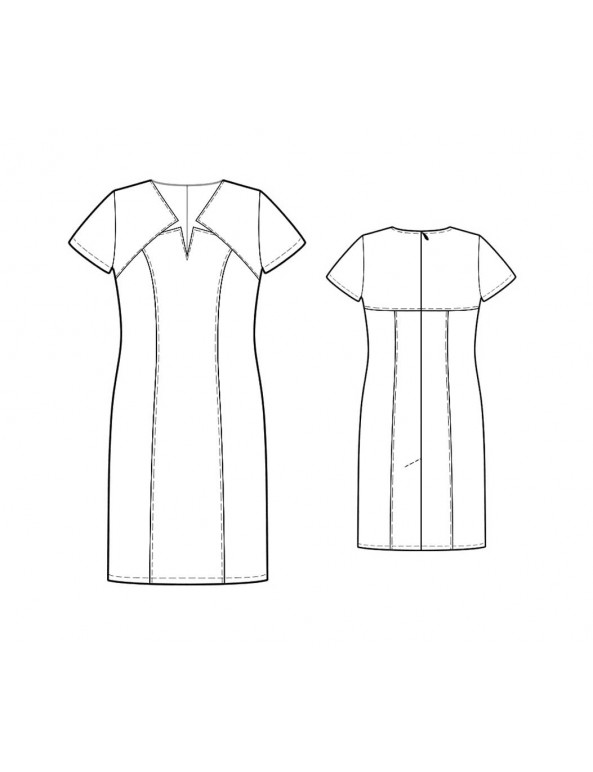 Fashion Designer Sewing Patterns - Princess Star-Necked Dress