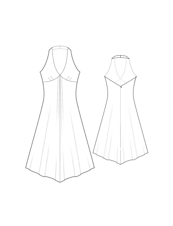 Fashion Designer Sewing Patterns - Hankerchief Skirt Halter Dress