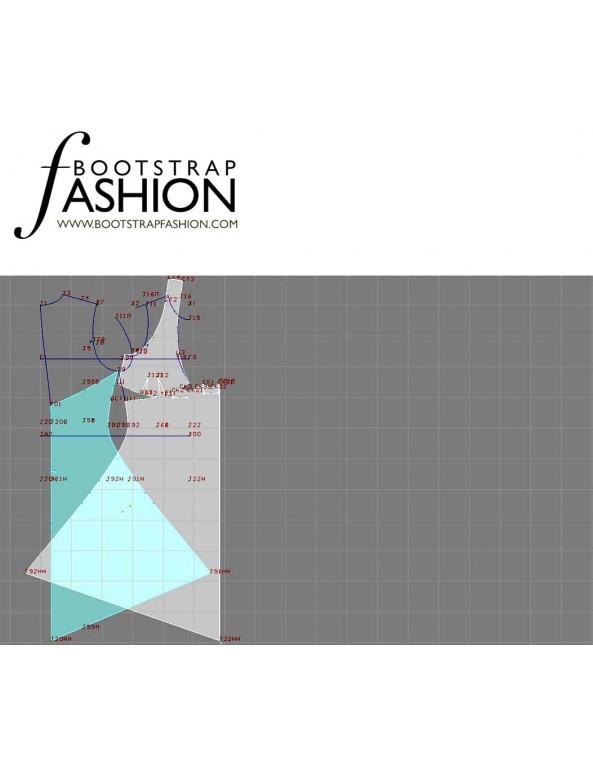 Fashion Designer Sewing Patterns - Hankerchief Skirt Halter Dress