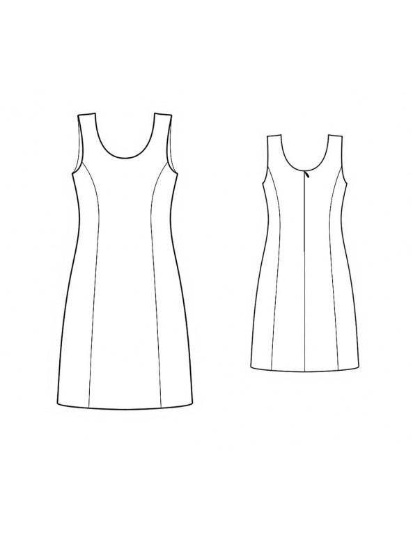 Fashion Designer Sewing Patterns - Princess-Style Sleeveless Dress