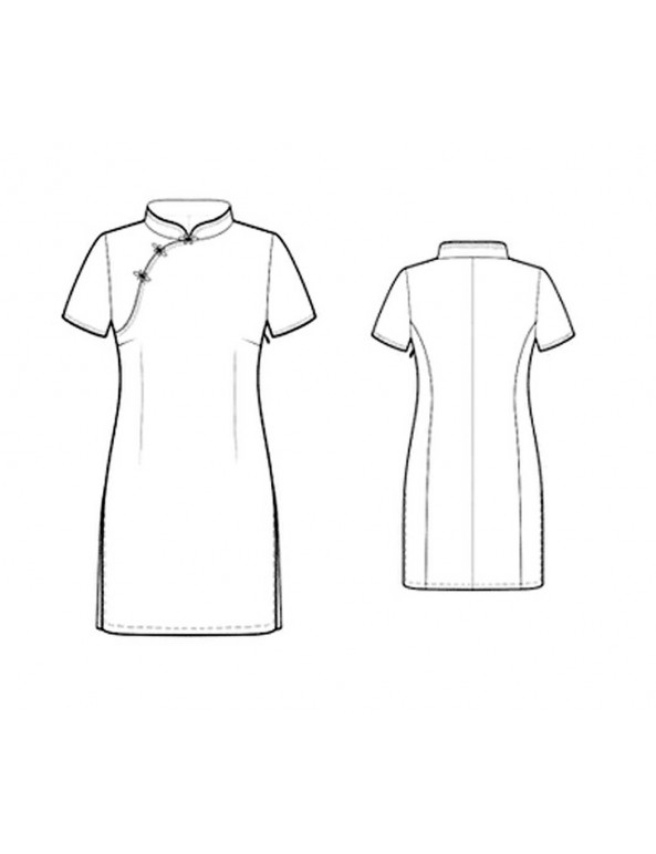 Fashion Designer Sewing Patterns - Asian-Style Fitted Dress