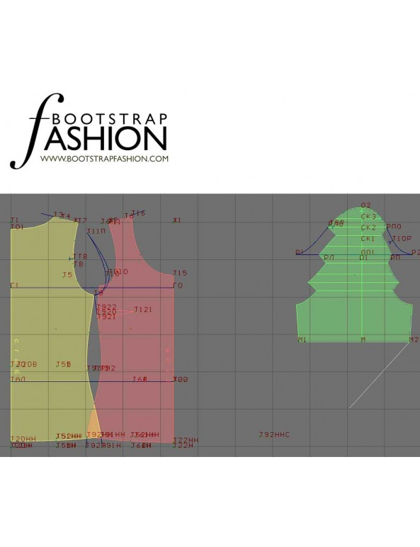 Fashion Designer Sewing Patterns - Scoop-Neck Short-Sleeved Top