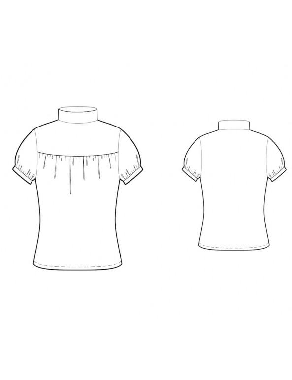Fashion Designer Sewing Patterns - Puff Sleeved Knit Turtleneck