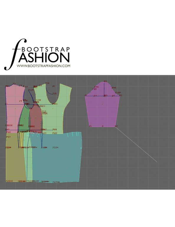 Fashion Designer Sewing Patterns - Scoop-Neck, Drop-Waist Dress