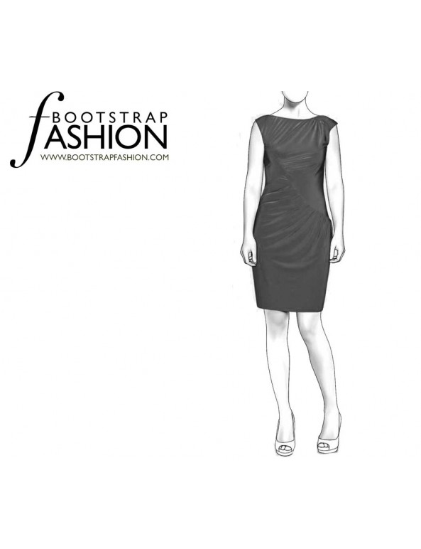 Fashion Designer Sewing Patterns - Draped Knit Dress