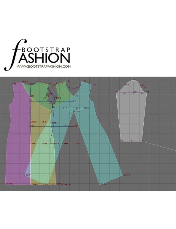 Fashion Designer Sewing Patterns - Faux Wrap Knit Dress