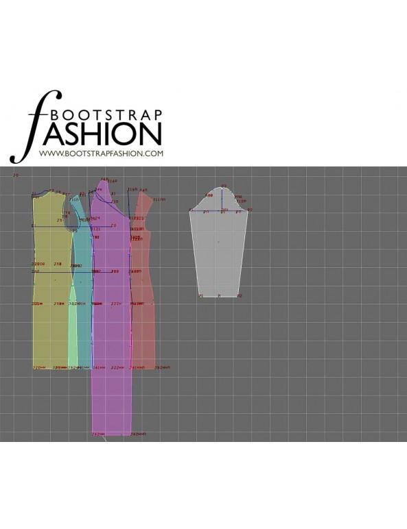 Fashion Designer Sewing Patterns - Asymmetrical Neck Draped Knit Dress