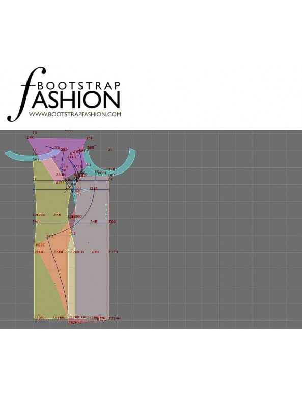 Fashion Designer Sewing Patterns - Draped Layered Dress