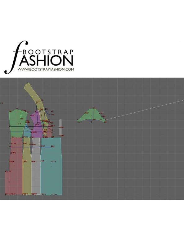 Fashion Designer Sewing Patterns - Short-Sleeved, Empire-Waist Dress