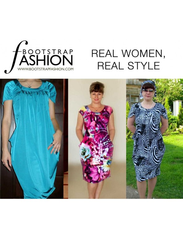 Fashion Designer Sewing Patterns - Draped Layered Dress