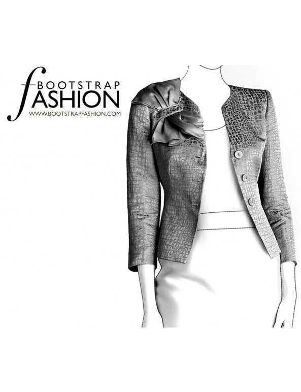 Fashion Designer Sewing Patterns - Jacket with Shoulder Ruffle