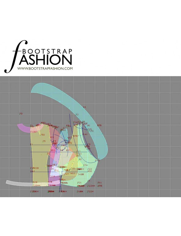 Fashion Designer Sewing Patterns - Curved Asymmetric Front Jacket with Three-Quarter-Length Sleeves