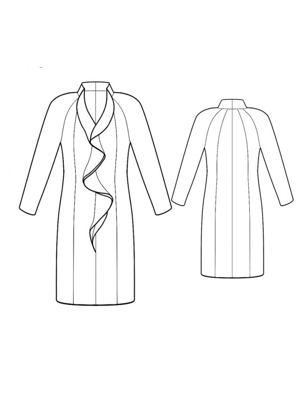Fashion Designer Sewing Patterns - Princess-Style Dress with Ruffle