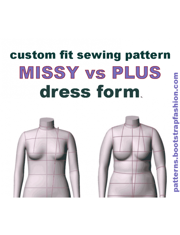 DIY Dress Form Sewing Pattern PDF | BootstrapFashion Patterns