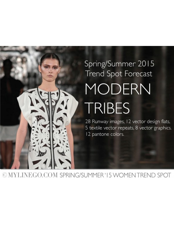Fashion Designer Sewing Patterns - Modern Tribes - SS '15 Women Trend Spot