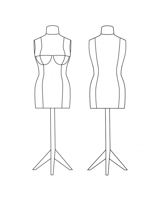 Dress Form Sewing Mannequin Bootstrapfashion Patterns